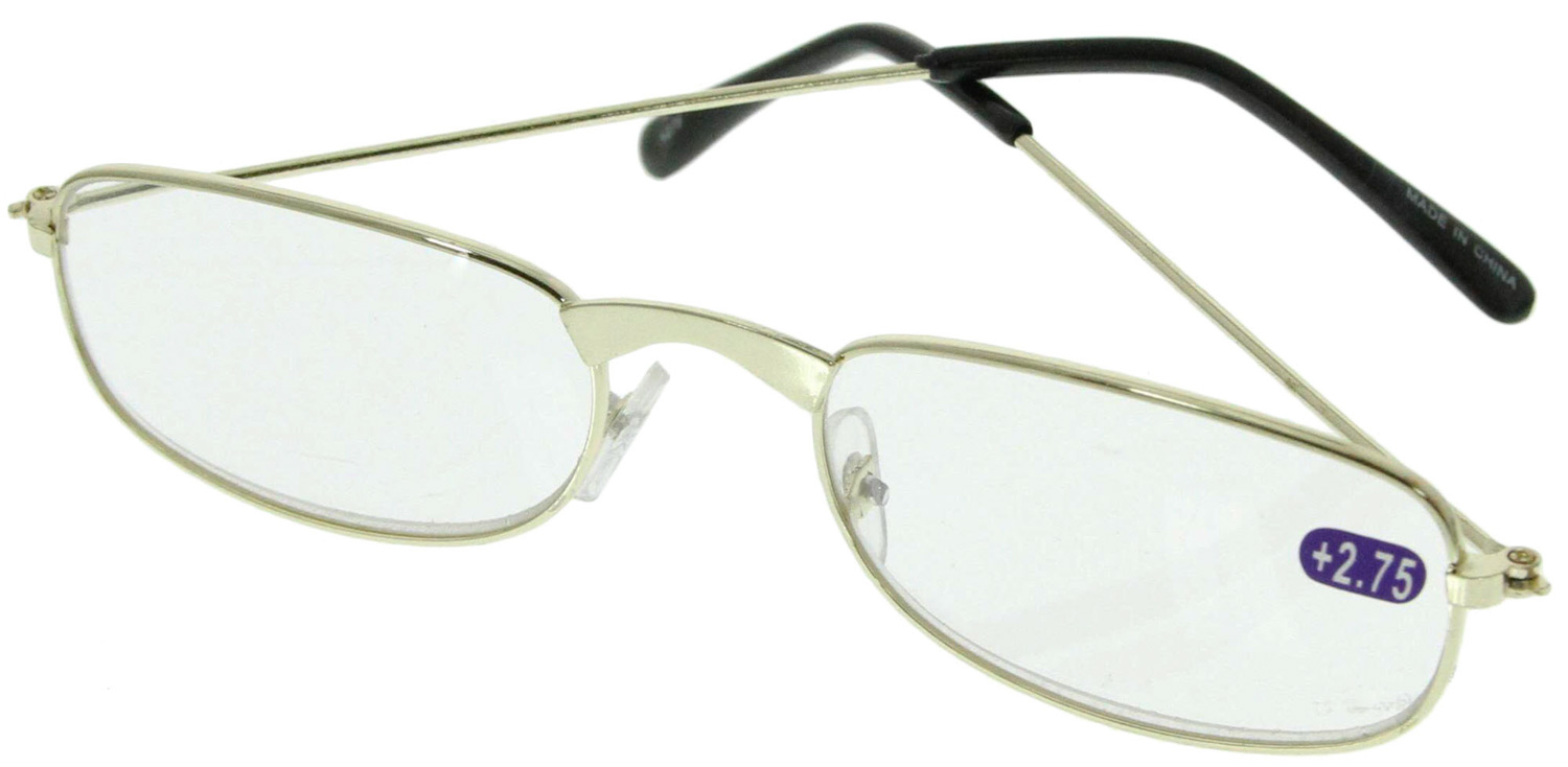Gold Frame Reading Glasses : Reading Glasses Gold Color Metal Frame 2 75x eBay